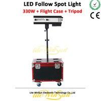 Litewinsune 330 Вт светодио дный сопровождающий прожектор с кейс Свадебная вечеринка маленький показать фокус освещения сцены