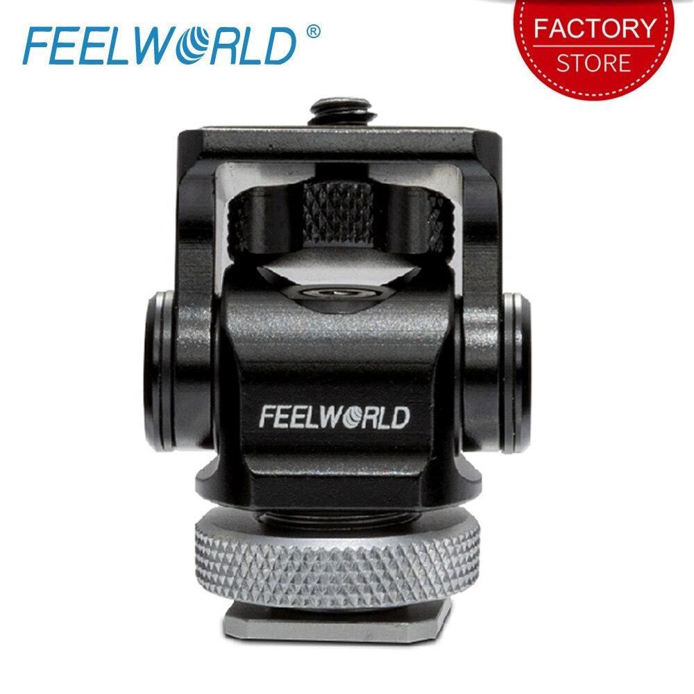 FEELWORLD regulowana kamera do montażu na gorąco obrót o 360 stopni Monitor adaptera lampy błyskowej Vlogger oryginalny uchwyt dla Canon Nikon Sony