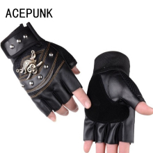 цены Leather Half Finger Sports Gloves Riding Wristband Climbing Rock Climbing Non-Slip Breathable Pirate Men's Fingerless Gloves