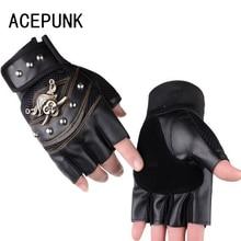 цены Leather Half Finger Sports Gloves Riding Wristband Climbing Rock Climbing Non-Slip Breathable Pirate Men's Fingerless Gloves
