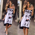 minnie mouse women miki cartoon dress clothes clothing midi dress vestidos N212