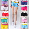 2017 fashion Hot 10 colors summer candy-colored short Jeans women casual short pants denim shorts whithout belt shorts SIZE:S-XL