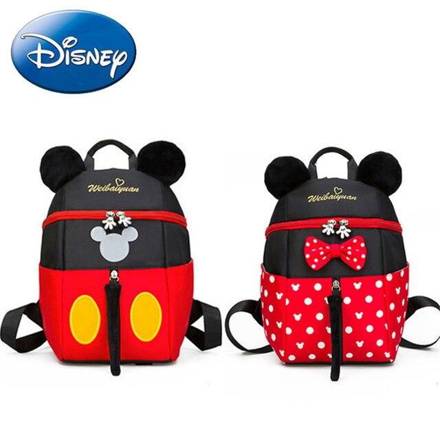 2019 yeni Mickey Mouse Minnie şekli kız erkek sırt çantası çocuk çantası okul karikatür çocuk sevimli anaokulu kreş kitap çantası hediye