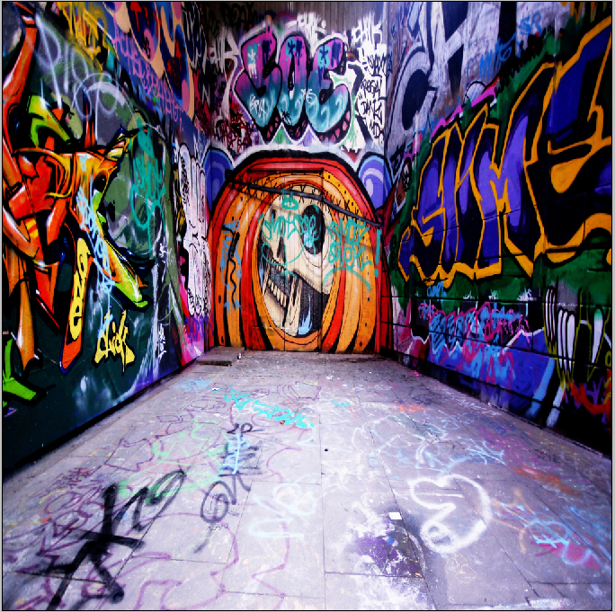 10x10FT Street Hip Hop Graffiti Room Marbles Custom