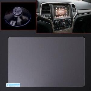 Image 1 - 8.4 calowy ekran nawigacyjny GPS stalowa folia ochronna do Jeep Grand Cherokee SRT Compass 2019 2019 obsługa ekranu LCD naklejka