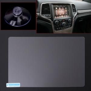 Image 1 - Film protecteur en acier décran de Navigation de GPS de 8.4 pouces pour la boussole 2019 de Jeep Grand Cherokee SRT contrôle de lautocollant décran daffichage à cristaux liquides 2019