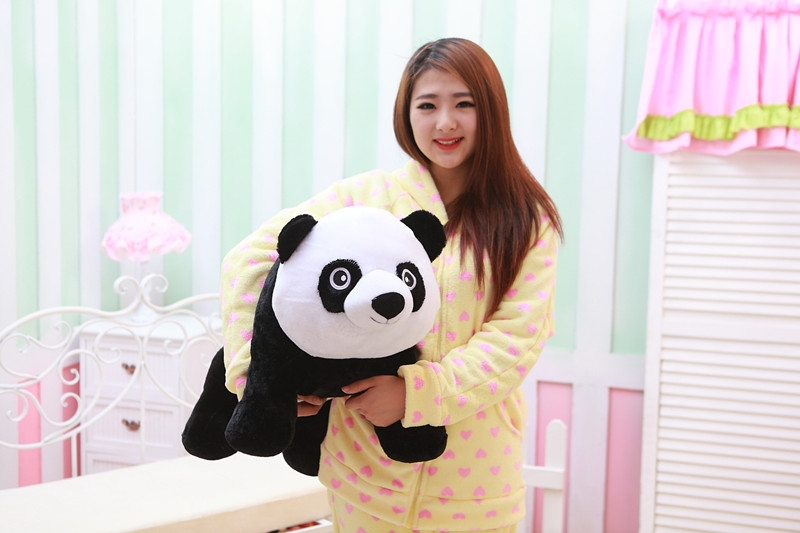 large 65 cm panda plush toy lovely prone panda doll throw pillow birthday gift w6747 lovely giant panda about 70cm plush toy t shirt dress panda doll soft throw pillow christmas birthday gift x023