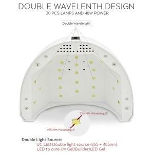 Image 3 - KADS 48W UV מנורת Led עבור כל סוגי ג ל 30 נוריות UV לציפורניים מכונה ריפוי 5S/30s/60s טיימר LED נייל מנורת