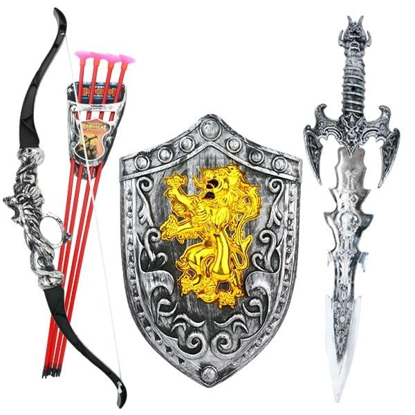 /& Fancy Dress Prop Halloween Medieval Kids Children Plastic Bow /& Arrow Toy