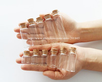 Wholesale 100 Pcs/Lot Clear Tiny Mini Glass Bottle Cork Stopper Transprent Message Glass Bottles Vials Diameter 22mm