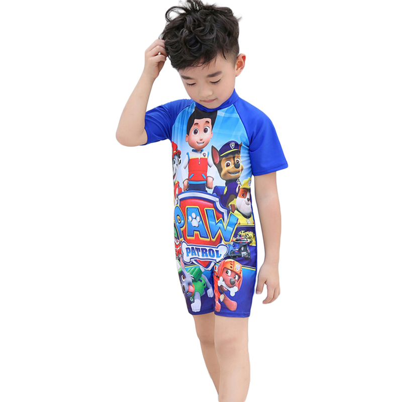 2018 newest hot sales Fashion Summer Kids Child Boy Cartoon Printed Swimwear one-pieces swimming suit