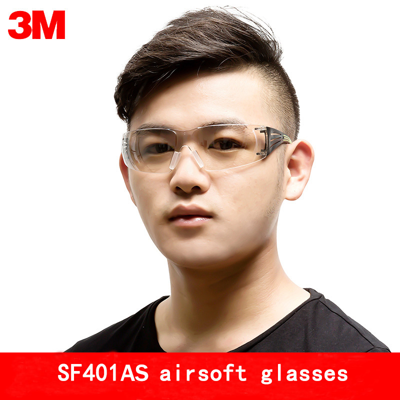 3M SF401AS goggles Genuine security 3M safety goggles Anti-fog Anti-UV SF400 series Transparent safety glasses недорго, оригинальная цена