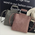 Fashion Frosted Satchel Bag Retro PU Leather Casual Handbag Shoulder Purse Totes