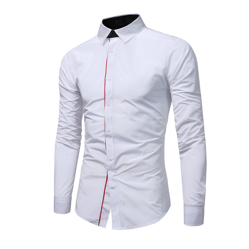 Honesty Bdlj 2017 New Spring Long-sleeved Twill Cloth Men Shirt Striped Shirt Men Lapel Collar Shirt Mens Camisa Masculina S-5xl Easy To Use Shirts Men's Clothing