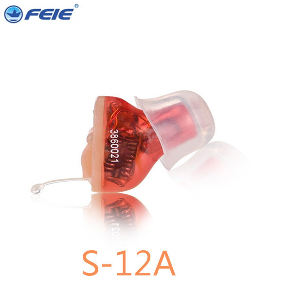 mini listening device CIC hearing device  S-12Ahearing aid earphones deaf Free Shipping feie s 12a mini digital cic hearing aid as seen on tv 2017 aparelho auditivo digital earphone hospital free shipping