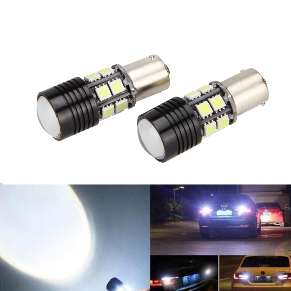 Reverse 2x No Error Canbus White LED Backup Light Bulb #S BA15S 1156 P21W Hot wljh 2x canbus 20w 1156 ba15s p21w led bulb 4014smd car backup reverse light lamp for bmw 228i 320i 328d 328i 335i m3 x1 x4 2015