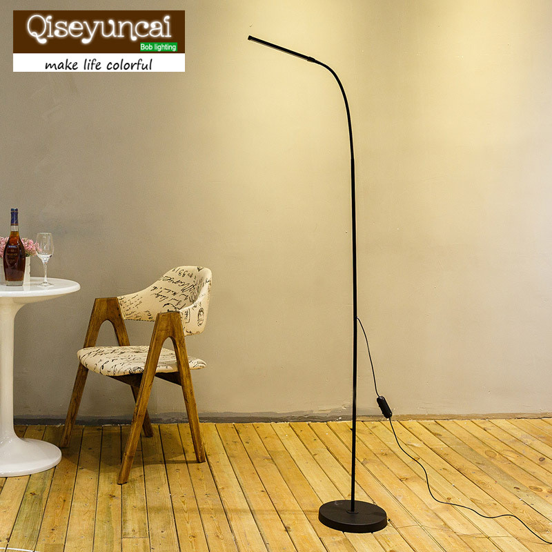 Qsyc Modern Eye-Protection LED Floor Lamp Dimmable Stand Lights Living Room Study Reading Lighting Led Fixture White&Warm White modern 9w 12w 15w led floor lamp remote dimmable stand lights living room piano reading standing lighting led floor lighting
