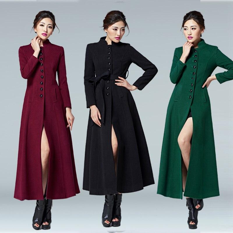 Trench Collar Automne with Poitrine Unique Collar no Long Manteau Fur D'hiver Mode Montant Collar Col Femmes Et Femme 2019 Outwear coats De Laine With RSwqPZgYF