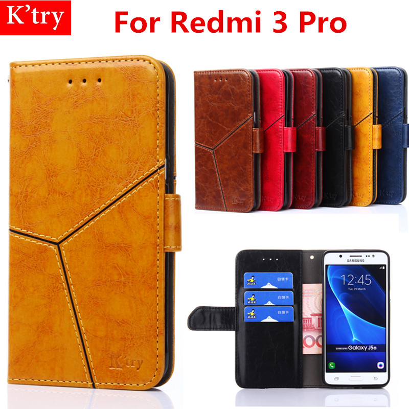 6 Colors Retro Wallet Case For Xiaomi Redmi 3 Pro Book Flip Cover PU Leather Stand Phone Bags Cases For Redmi 3 Pro Fundas