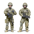 DIY TOYS Resin 1/ 35 British Army include 2 soldiers     Unpainted Kit Resin Model Free Shipping