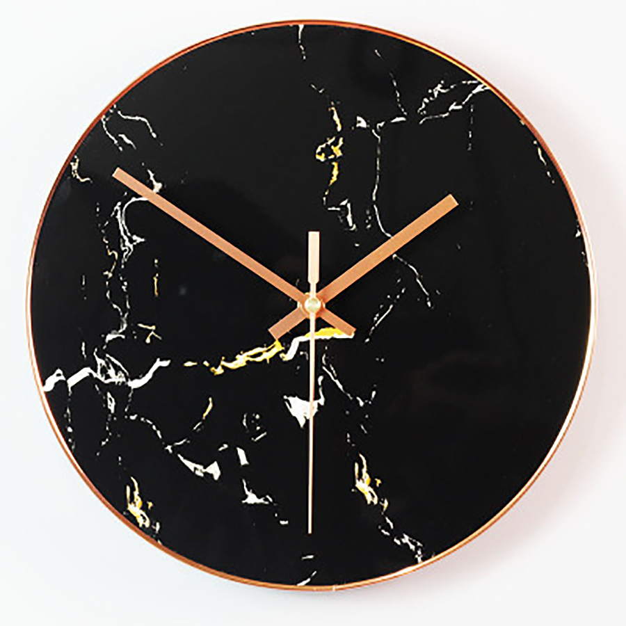 Marble Bedroom Wall Clock Creative Personalize Large Decorative Wall Clocks Home Decor Vintage Living Room Decoration 50A0111