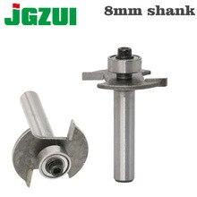 """8 มิลลิเมตร Shank คุณภาพสูง """"T"""" Biscuit Joint Cutter Jointing/Slotting Router Bit เครื่องตัดไม้ทำงาน"""