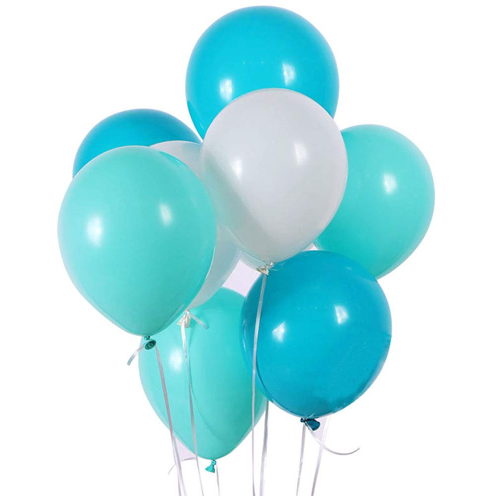 METABLE 100PCS Blue Mint Seafoam Green Assorted Mixed Aqua 12/10 Inch Rubber Latex Party Balloons for Wedding Special EventMETABLE 100PCS Blue Mint Seafoam Green Assorted Mixed Aqua 12/10 Inch Rubber Latex Party Balloons for Wedding Special Event