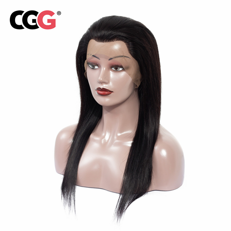 CGG Pre colored Human Hair Wigs Malaysian Straight Hair 13x4 Lace Frontal Wigs Non Remy Human