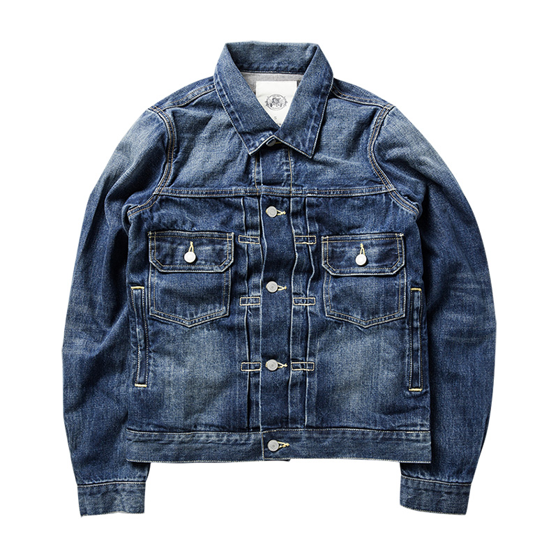 Read Description! Asian size cotton denim jacket casual long sleeve washed denim coat