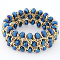 New 2018 women multilayer crystal weaving elastic Bracelet With shambhala bead gold chain bracelets Bangle Wristband