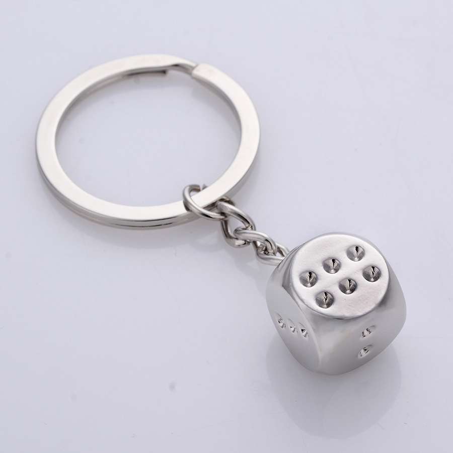 Jewelry & Accessories Novelty Trinket Creative Casual Dice Keychains Alloy Keyring Keyfobs Charm Bag Jewelry Novelty Metal Car Key Holder Gift