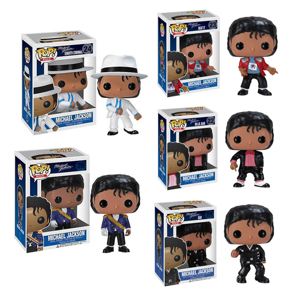 FUNKO POP 5 estilos!! BILLIE JEAN CRIMINAL MICHAEL JACKSON BEAT IT BAD SM00TH modelo collectible figure toy modelo para crianças