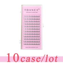 TDANCE Extension de cils à tige courte, 10 pièces/lot, épaisseur de 0.07 à 0.10mm
