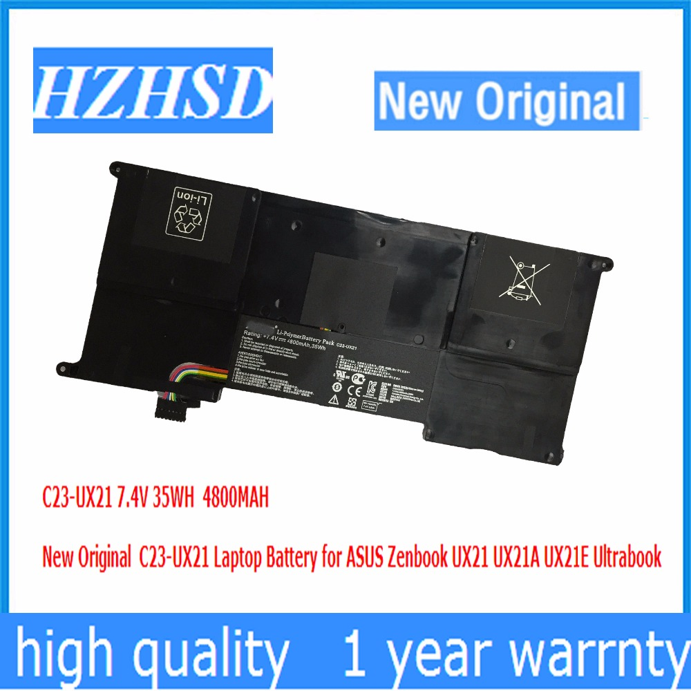 7 4V 35WH 4800MAH New Original C23 UX21 Laptop font b Battery b font for ASUS