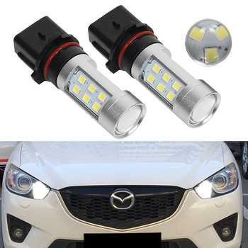 2X P13W PSX26W Car LED Fog Light DRL Day Bulb Daytime Running Lights For Mazda CX-5 CX5 CX 5 2013 цена 2017