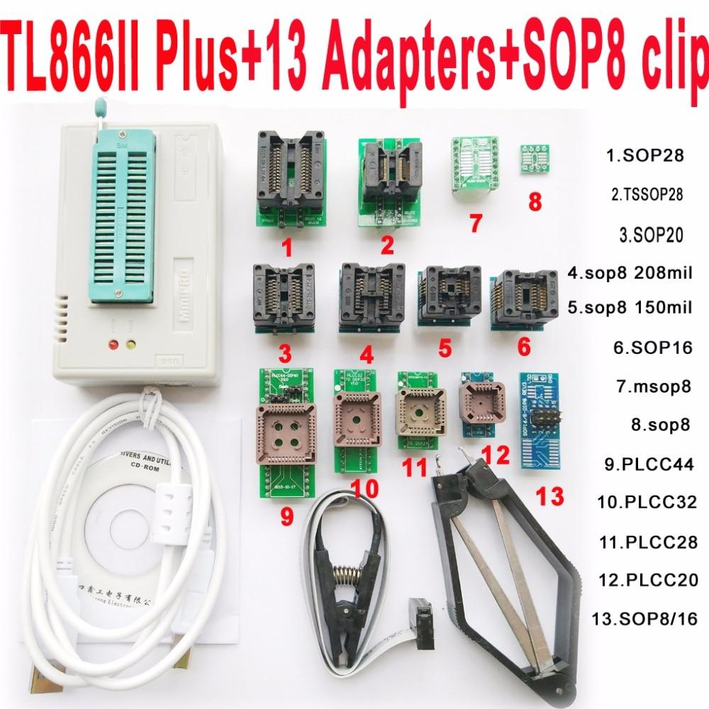 V7.11 XGecu TL866II плюс программист + 13 адаптеры разъем TL866ii 1,8 В nand flash 24 93 25 mcu Биографические очерки EPROM лучше чем TL866A/CS