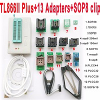 V7 11 XGecu TL866II Plus Programmer 13 Adapters Socket TL866ii 1 8V Nand Flash 24