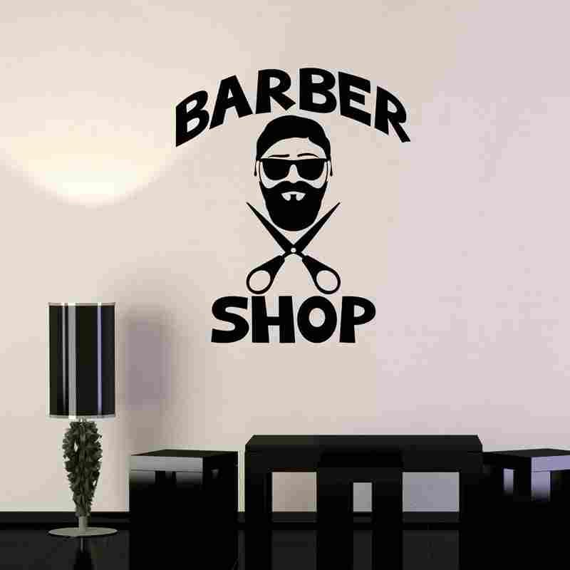 Home Decor Home & Garden Barber Shop Wall Sticker Chop Bread Decal Haircut Shavers Posters Vinyl Wall Art Decals Decor Windows Decoration Mural #m708