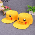 Anime Pocket Monster Cosplay Cap red yellow Novelty cartoon Pikachu ladies dress Pokemon go Hat charm Costume Props Baseball c