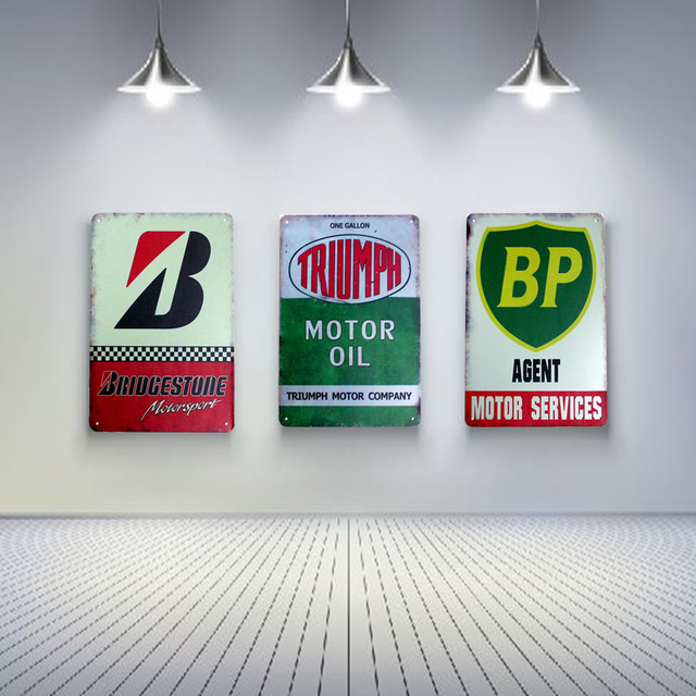Motor Services Vintage Tin Signs Retro Metal Plate Painting Wall Decoration for Bar Home Club Pub & Motor Services Vintage Tin Signs Retro Metal Plate Painting Wall ...