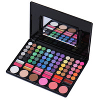 Hot 78 Colors Eyeshadow Kit Blush Lip Gloss Combination Plate Makeup Kit Box With Mirror Women