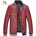 Men Genuine Leather Down Jacket Winter Outerwear Black/Red/Slim/Simple Business Style/Sheepskin/ Casual Coat  15Z1507