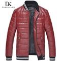 Men Genuine Leather Down Jacket Winter Outerwear Black/Red/Slim/Simple Business Style/Sheepskin/ Casual Coat  15Z1507