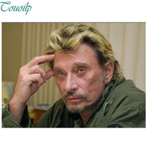 Johnny hallyday – peinture diamant, Superstar chanteur, point de croix rond, Strass, broderie en plastique, artisanat