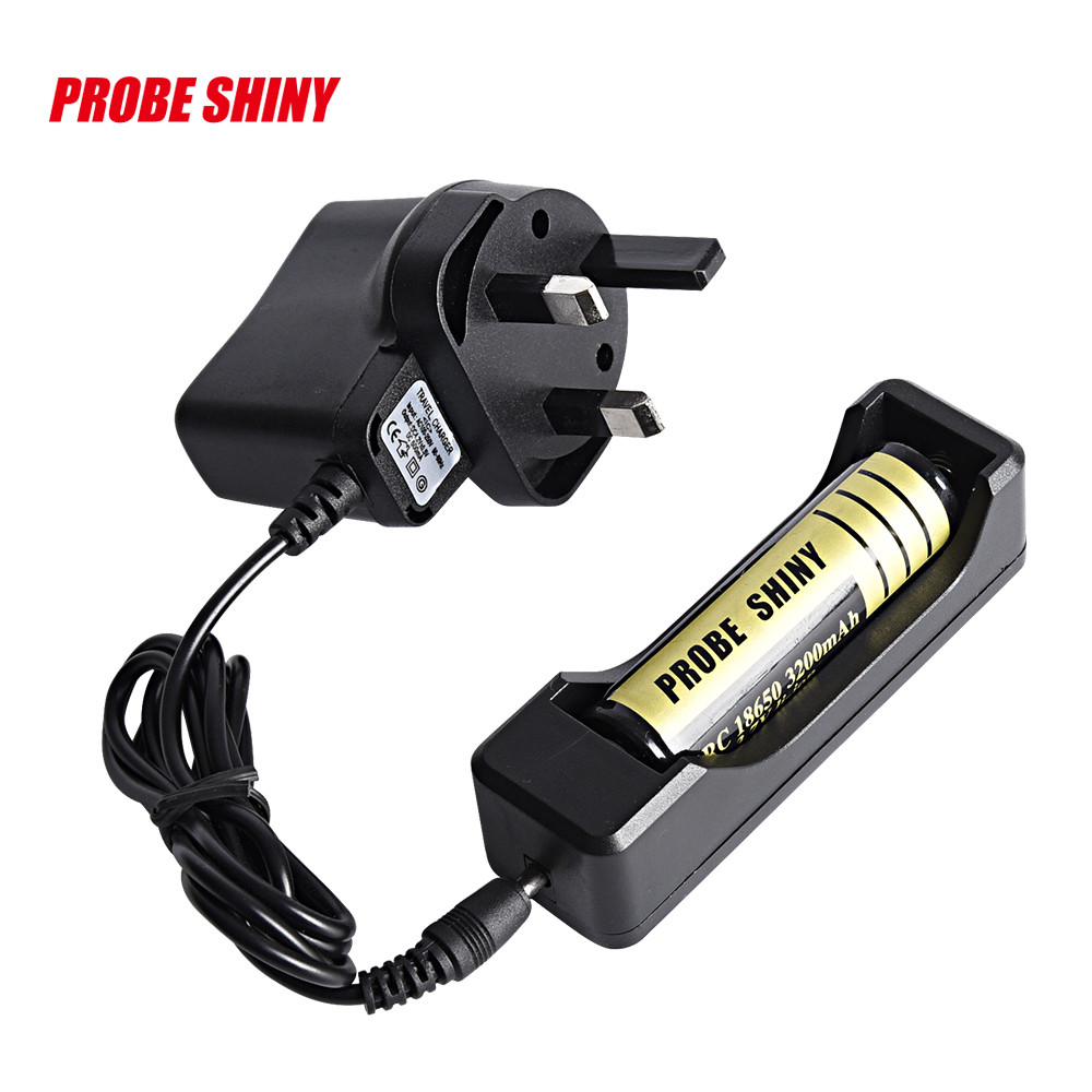 LI-ION Battery Charger for Rechargeable 18650 3.7V Battery Travel UK Plug Drop Shipping
