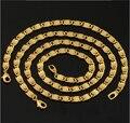 18 K Real banhado a ouro bijuterias atacado exclusivo na moda 1 CM Chunky 2 tamanhos Chain Link de joias homens