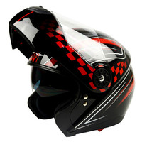 GXT 370 Full Face Motorcycle Helemt Flip Up Motorbike Helmets With Inner Visor Dual Lens ABS