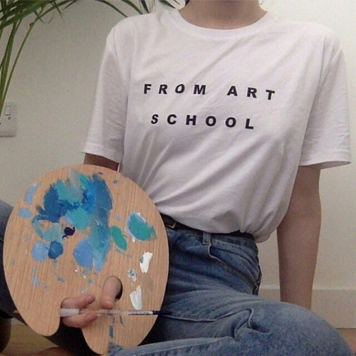 "New Arrival ""From Art School""Tumblr Style Shirt Trumblr T"