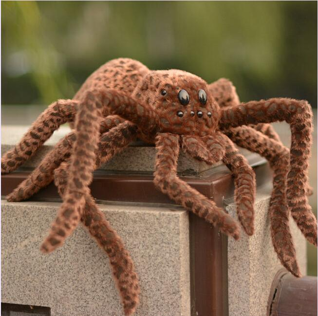 Stuffed Animal Toy Dolls Simulation Spider Doll Super Good Quality  Plush Toys Gift stuffed animal 120cm simulation giraffe plush toy doll high quality gift present w1161