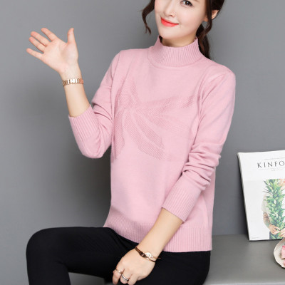 New Womens Knitted Shirt Color 45-4 All-match Turtleneckcardigan Long Performance Life Women's Clothing Contemplative Korean Fashionsweater Women 7276